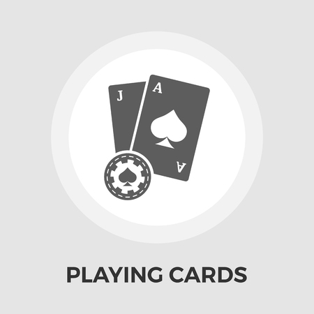 double the chances: Playing Cards Icon Vector. Flat icon isolated on the white background.   Vector illustration. Illustration