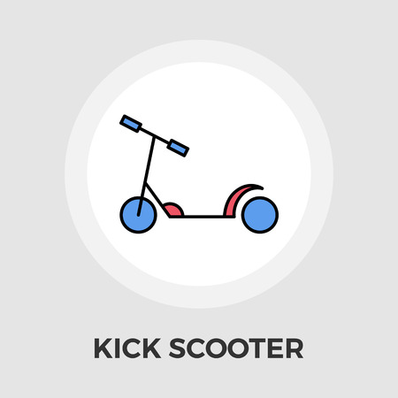 ni�o empujando: Scooter child icon vector. Flat icon isolated on the white background.  Vector illustration.