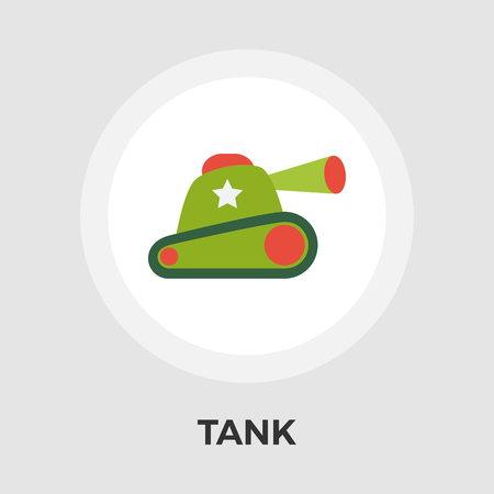 trooper: Tank toy icon vector. Flat icon isolated on the white background.    Vector illustration.