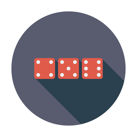 craps: Craps icon. Flat vector related icon whit long shadow for web and mobile applications. It can be used as - logo, pictogram, icon, infographic element. Vector Illustration.