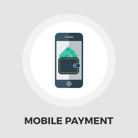 charges: Mobile payment icon vector. Flat icon isolated on the white background.  Vector illustration.
