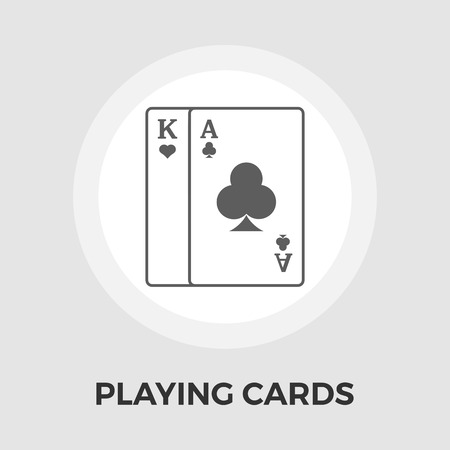 double game: Playing Cards Icon Vector. Flat icon isolated on the white background.  Vector illustration. Illustration