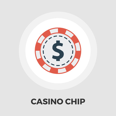 pursuit: Gambling chips icon vector. Flat icon isolated on the white background.  Vector illustration. Illustration