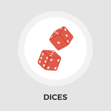 las vegas metropolitan area: Dices icon vector. Flat icon isolated on the white background.  Vector illustration.