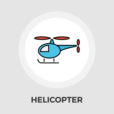 aerospace: Helicopter icon vector. Flat icon isolated on the white background.  Vector illustration. Illustration