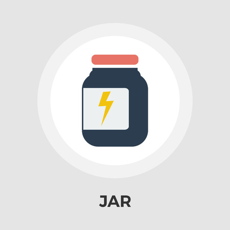 preserved: Jar icon vector. Flat icon isolated on the white background.  Vector illustration.