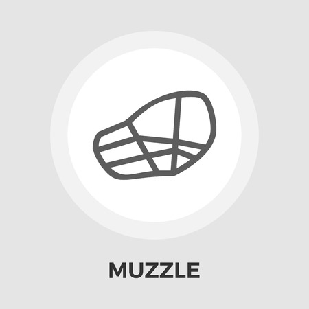 restraining: Muzzle icon vector. Flat icon isolated on the white background.  Vector illustration.