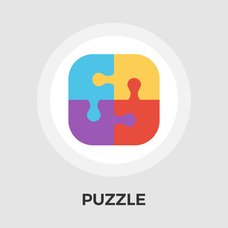 medium group of people: Puzzle icon vector. Flat icon isolated on the white background.  Vector illustration.