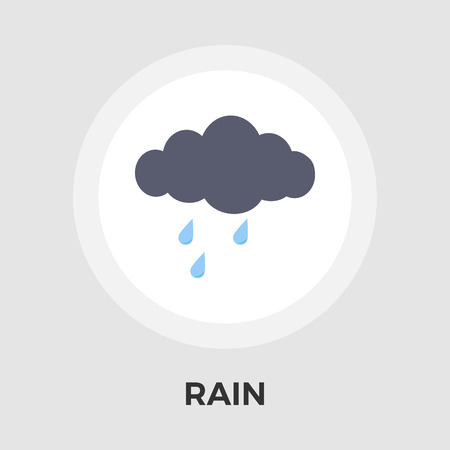 sleet: Rain icon vector. Flat icon isolated on the white background.  Vector illustration.