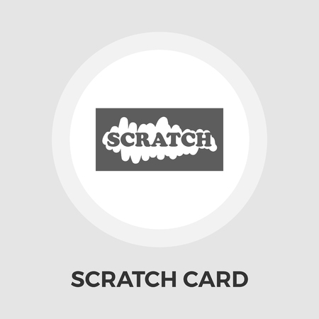 scratch card: Scratch card icon vector. Flat icon isolated on the white background. Illustration