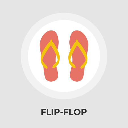 flipflop: Flip-Flop icon vector. Flat icon isolated on the white background. Illustration