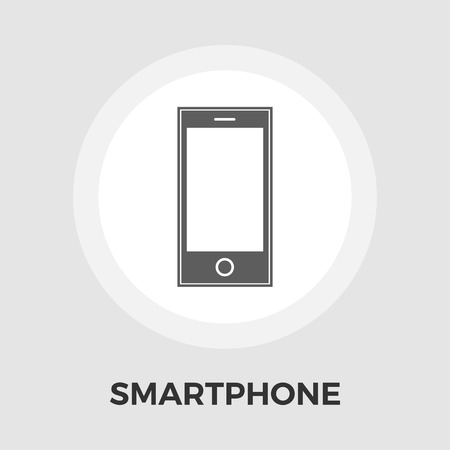 palmtop: Smartphone icon vector. Flat icon isolated on the white background.  Vector illustration.