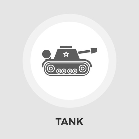 turret: Tank toy icon vector. Flat icon isolated on the white background.  Vector illustration. Illustration