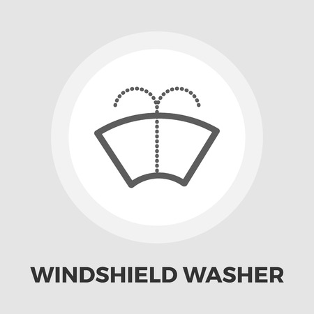 windshield wiper: Car wiper icon vector. Flat icon isolated on the white background.  Vector illustration.