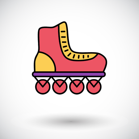 Roller skate icon. Flat vector related icon for web and mobile applications.