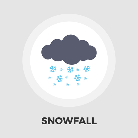 meteorologist: Snowfall icon vector. Flat icon isolated on the white background.