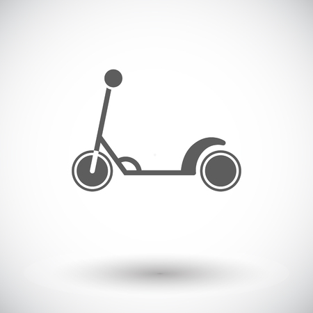 glide: Scooter child icon. Flat vector related icon for web and mobile applications. It can be used as - logo, pictogram, icon, infographic element. Vector Illustration. Illustration