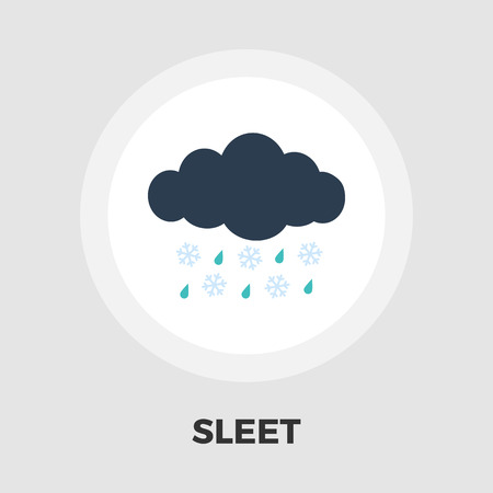 sleet: Sleet icon vector. Flat icon isolated on the white background. Editable EPS file. Vector illustration. Illustration