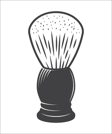shaving brush: Shaving brush isolated on a white background illustration Illustration