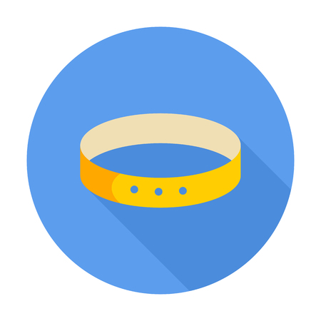 spiked: Collar icon. Flat related icon for web and mobile applications. It can be used as - pictogram, icon, infographic element. Illustration.