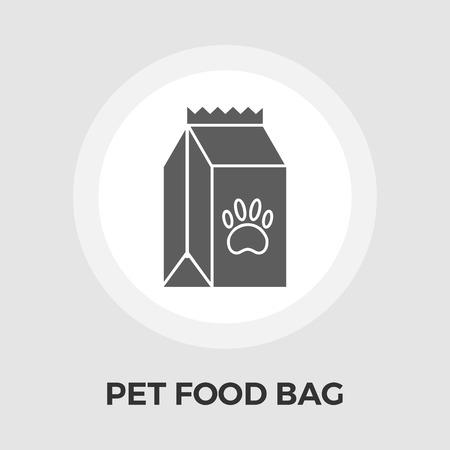 petshop: Pet food bag icon . Flat icon isolated on the white background.