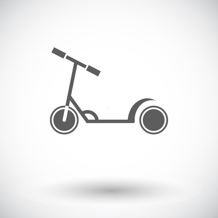 glide: Scooter child icon. Flat vector related icon for web and mobile applications. It can be used as -   pictogram, icon, infographic element. Vector Illustration.