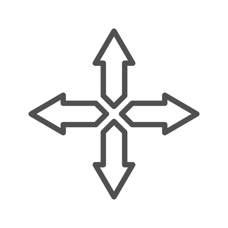 Directions  thin line vector icon isolated on the white background.