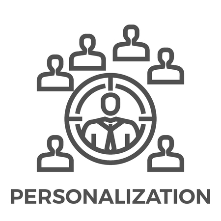 Personalization Thin Line Vector Icon Isolated on the White Background.