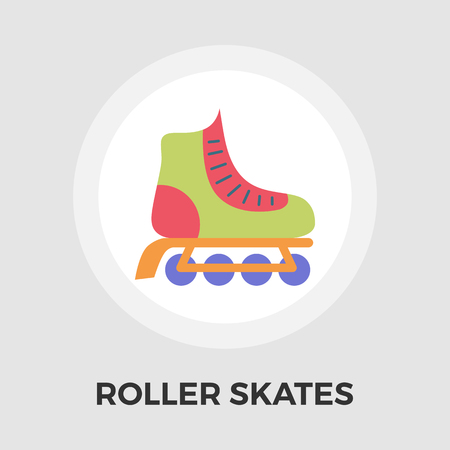 Roller skate icon vector. Flat icon isolated on the white background. Editable EPS file. Vector illustration. Illustration