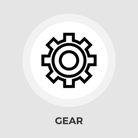 computer repairing: Gear Icon Vector. Flat icon isolated on the white background. Editable EPS file. Vector illustration.