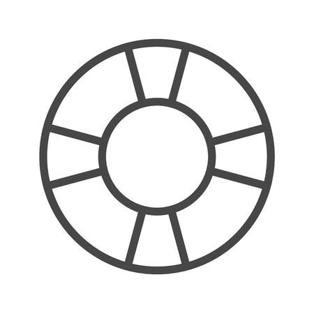 Lifebuoy Thin Line Icon. Flat icon isolated on the white background.