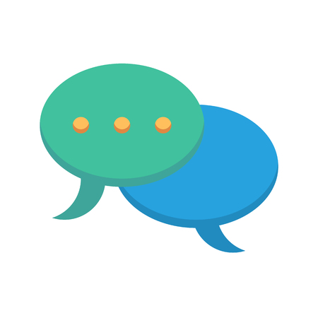 speech buble: Speech Bubble Flat Vector Icon. Flat icon isolated on the white background. Editable EPS file. Vector illustration. Illustration