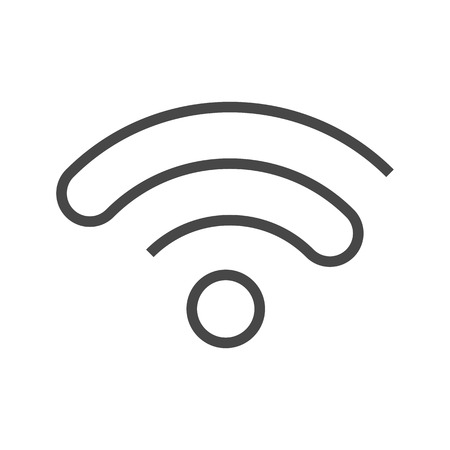 Wi FI Thin Line Vector Icon. Flat icon isolated on the white background. Editable EPS file. Vector illustration. Illustration