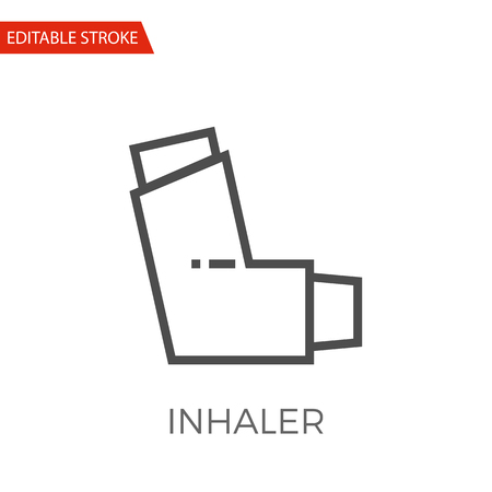 Inhaler Thin Line Vector Icon. Flat Icon Isolated on the White Background.