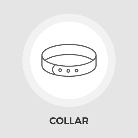 Collar icon vector. Flat icon isolated on the white background.