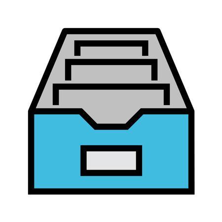 Icona di vettore piatto di file CAB. Icona piatto isolato su sfondo bianco. File EPS modificabile Illustrazione vettoriale