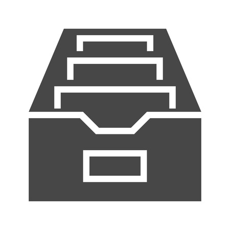 File Cabinet Flat Vector Icon. Flat icon isolated on the white background. Editable EPS file. Vector illustration. Illustration