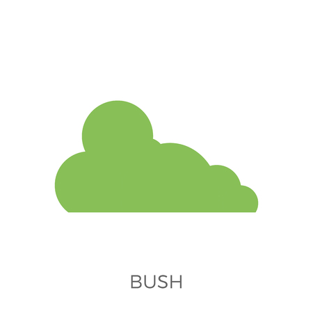 Bush Icon Vector. Isolated on White Background. Trendy Flat Style. Illusztráció