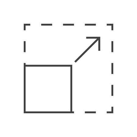 Resize Vector Icon. Thin Line Vector Illustration. Adjust stroke weight - Expand to any Size - Easy Change Colour 向量圖像