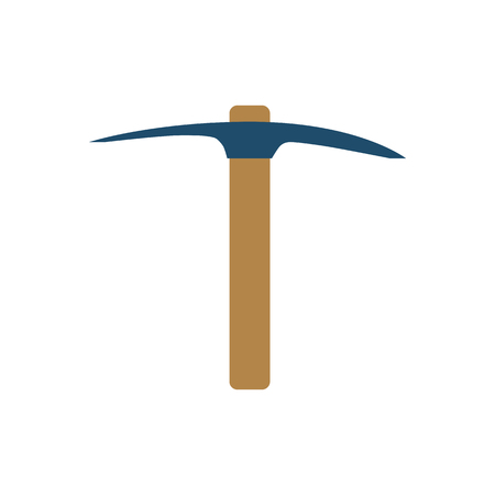 Pickaxe Flat Related Icon. Isolated on White Background.
