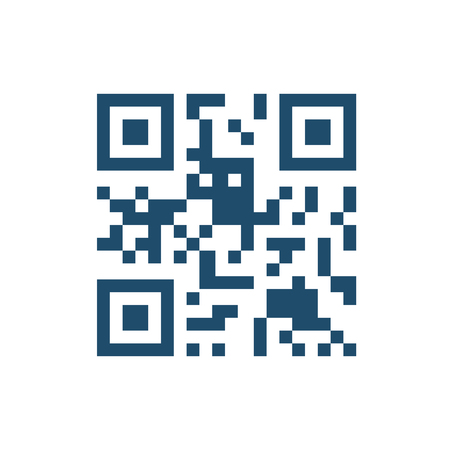 QR Code Flat Related Icon. Isolated on White Background.