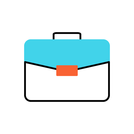 Briefcase Flat Related Vector Icon. Isolated on White Background.