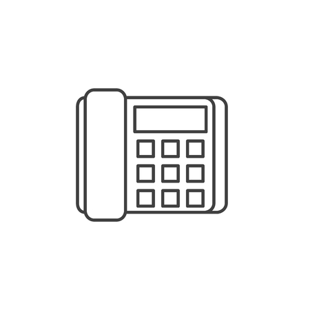 Office Phone Icon. Office Phone Related Vector Line Icon. Isolated on White Background. Editable Stroke.