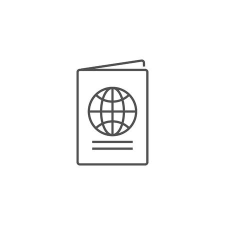 Passport Related Vector Line Icon.
