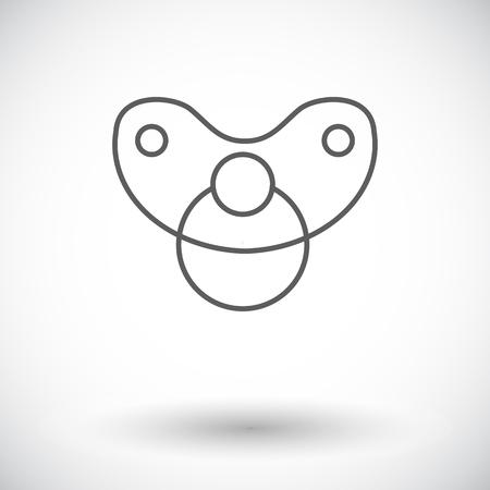 Nippel-Symbol. Dünne Linie, flaches Vektorsymbol für Web- und mobile Anwendungen. Es kann verwendet werden als - Logo, Piktogramm, Symbol, Infografik-Element. Vektor-Illustration. Logo