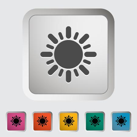 Sun icon. Single icon. Vector illustration. Ilustrace