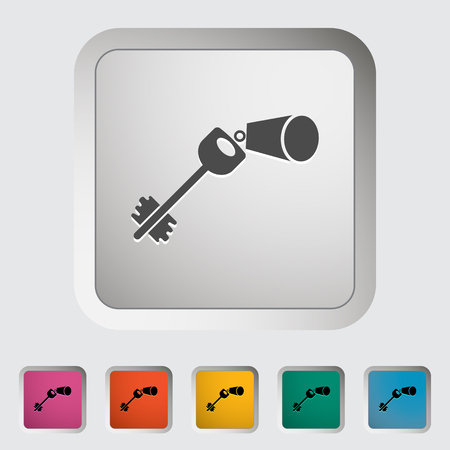 Key. Single icon. Vector illustration.