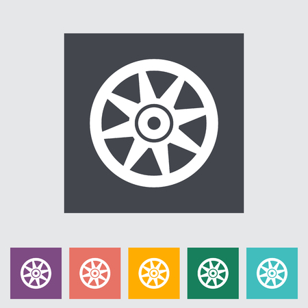 Icon Car drive disk. Vector illustration.