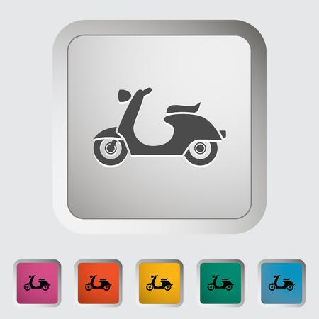Scooter. Icono único. Ilustración de vector.