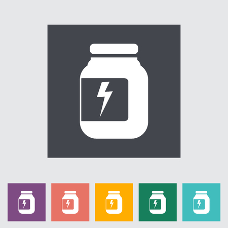 Jar flat icon. Vector illustration.